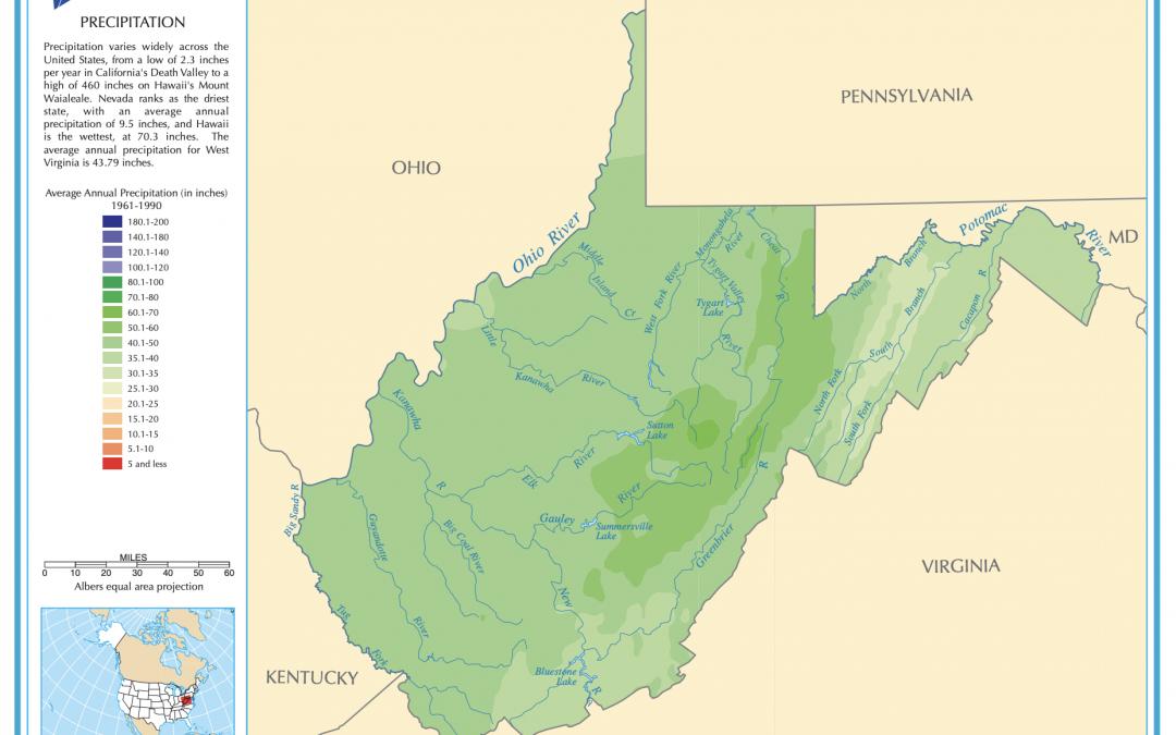 West Virginia Precipitation Map