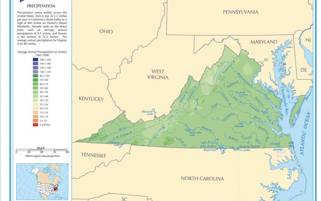 Virginia Precipitation Map