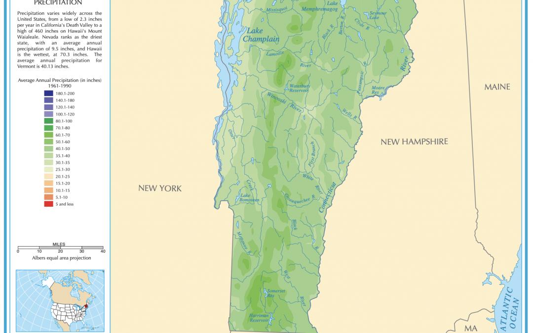 Vermont Precipitation Map